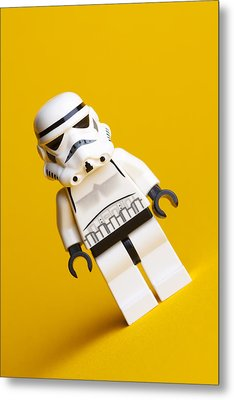 Lego Stormtrooper Metal Print by Samuel Whitton