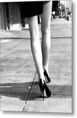 Metal Print featuring the photograph Legs New York by Rebecca Harman