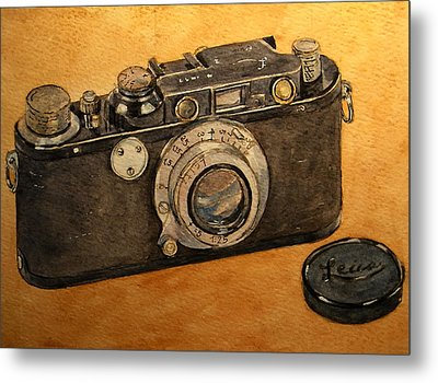 Leica II Camera Metal Print