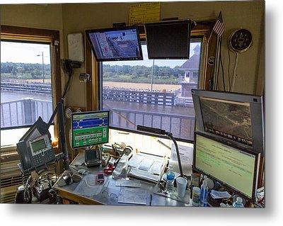 Leland Bowman Locks Control Room Metal Print