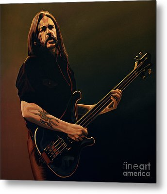 Lemmy Kilmister Painting Metal Print by Paul Meijering