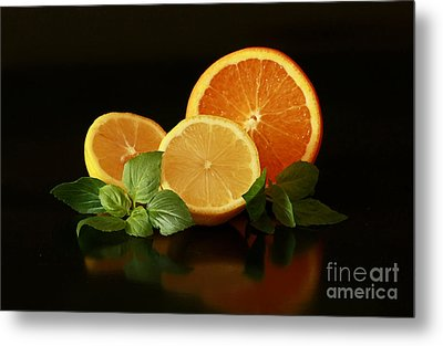 Lemon And Orange Delight Metal Print by Inspired Nature Photography Fine Art Photography