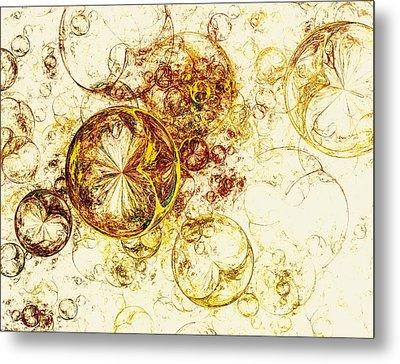 Lemon Bubbles Metal Print