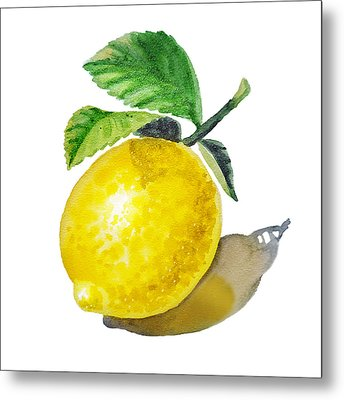 Lemon Metal Print by Irina Sztukowski