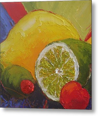 Lemon Lime And Cherry Metal Print by Paris Wyatt Llanso