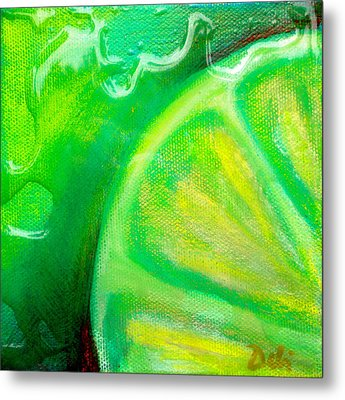 Lemon Lime Metal Print by Debi Starr
