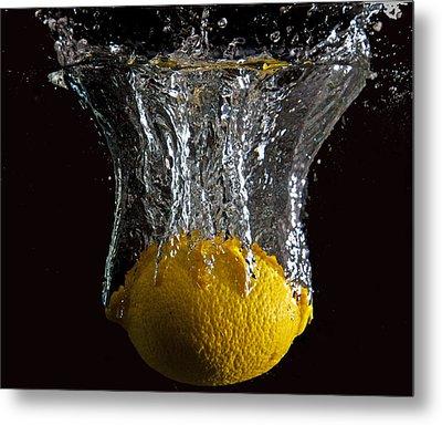 Metal Print featuring the digital art Lemon Splash by John Hoey