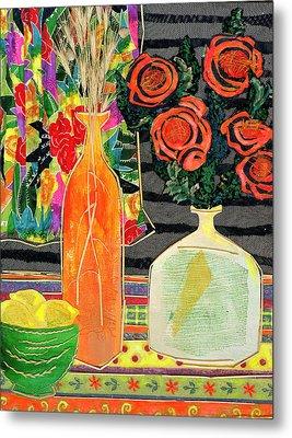 Lemon Squash And Pumpkin Metal Print by Diane Fine