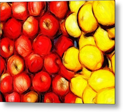 Lemons And Apples Metal Print by Steve K