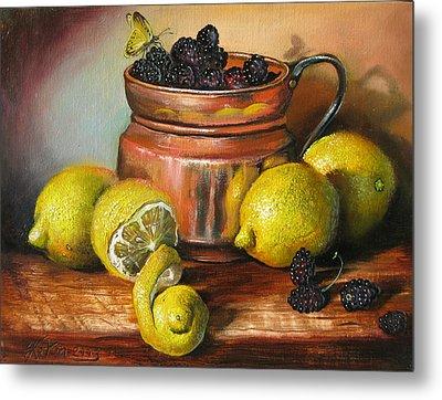 Lemons And Berries Metal Print