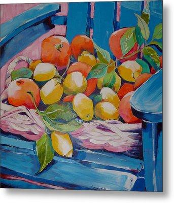 Lemons And Oranges Metal Print