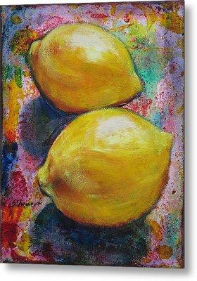 Lemons Metal Print by Sheila Diemert