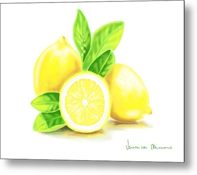 Lemons Metal Print by Veronica Minozzi