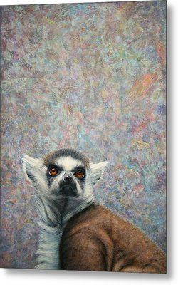 Lemur Metal Print by James W Johnson