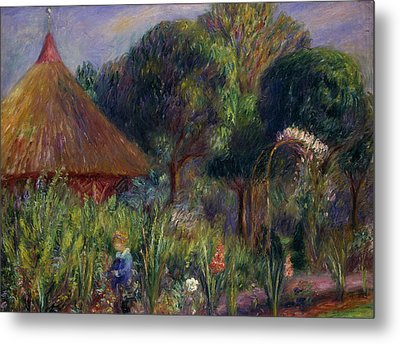 Lenna By A Summer House Metal Print by William James Glackens