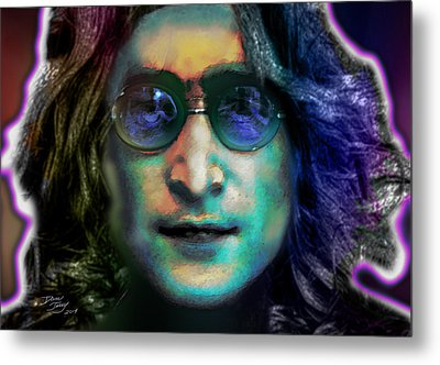 Haunting Lennon  Metal Print by Dan Terry