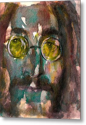 Metal Print featuring the painting Lennon 2 by Laur Iduc