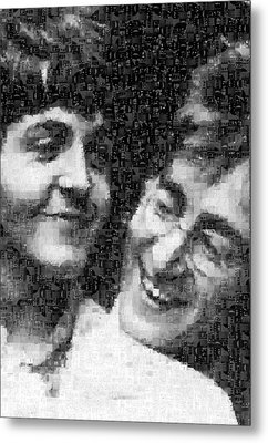 Lennon And Mccartney Mosaic Image 1 Metal Print