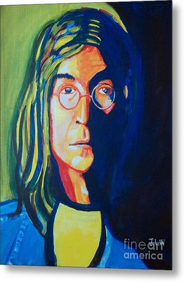 Lennon Metal Print by Justin Lee Williams