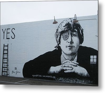 Metal Print featuring the photograph Lennon Portrait by Nathan Rupert