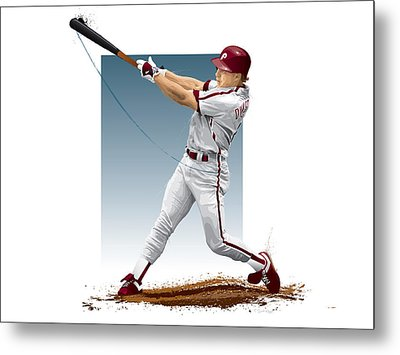 Lenny Dykstra Metal Print by Scott Weigner