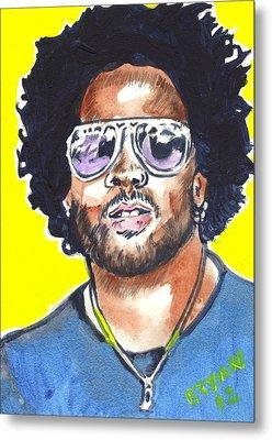 Lenny Kravitz Metal Print by Bryan Bustard