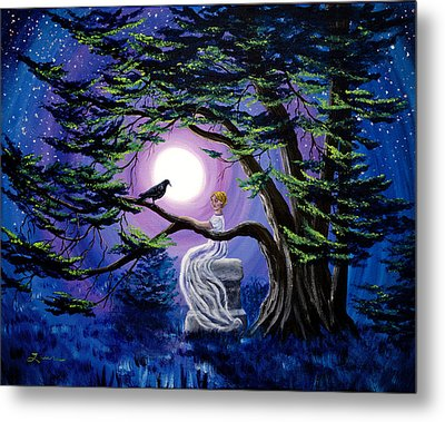 Lenore By A Cypress Tree Metal Print