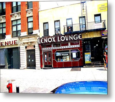 Metal Print featuring the photograph Lenox Lounge Harlem 2005 by Cleaster Cotton