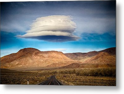 Metal Print featuring the photograph Lenticular Cloud Ft. Churchill State Park Nevada by Michael Rogers
