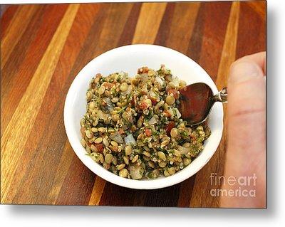Lentil Tabbouleh Salad Metal Print