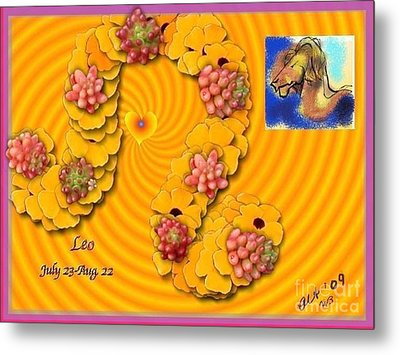 Metal Print featuring the digital art Leo  by The Art of Alice Terrill
