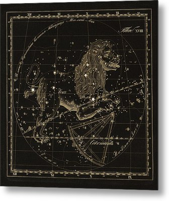 Leo Constellations, 1829 Metal Print by Science Photo Library