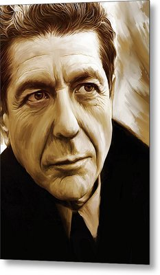 Leonard Cohen Artwork Metal Print by Sheraz A