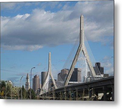 Leonard P Zakim Bridge Metal Print
