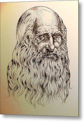 Leonardo Da Vinci Metal Print by Derrick Higgins