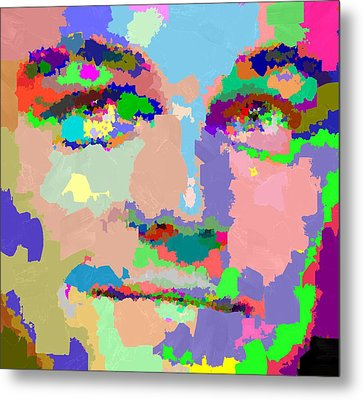 Leonardo Dicaprio - Abstract 01 Metal Print
