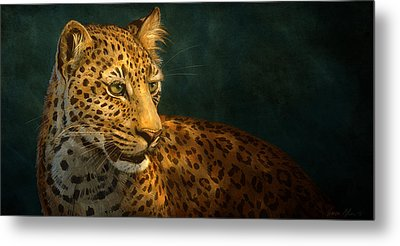 Leopard Metal Print by Aaron Blaise