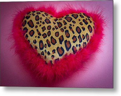 Metal Print featuring the photograph Leopard Heart by Patrice Zinck