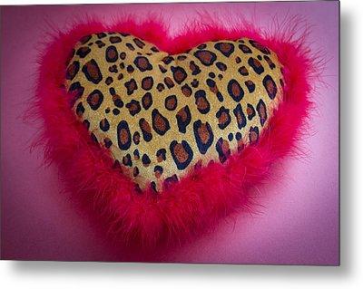 Leopard Heart Metal Print by Patrice Zinck