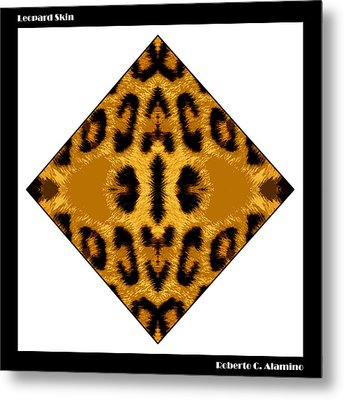 Leopard Skin Metal Print by Roberto Alamino
