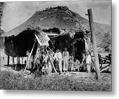 Lepers In The Philippines Metal Print by National Library Of Medicine