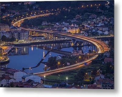 Metal Print featuring the photograph Lerez River Pontevedra Galicia Spain by Pablo Avanzini
