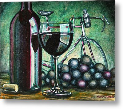 Metal Print featuring the painting L'eroica Still Life by Mark Howard Jones
