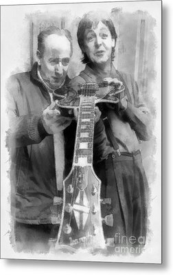 Les And Paul Metal Print by Paulette B Wright