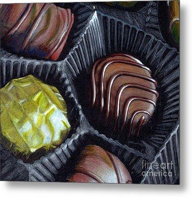 Les Bonbons Chocolats Metal Print by Loredana Buford
