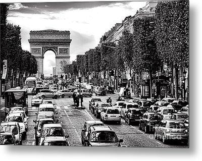Les Champs Elysees  Metal Print by Olivier Le Queinec