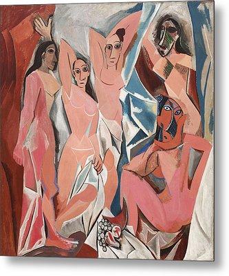 Les Demoiselles D Avignon Metal Print by Pablo Picasso