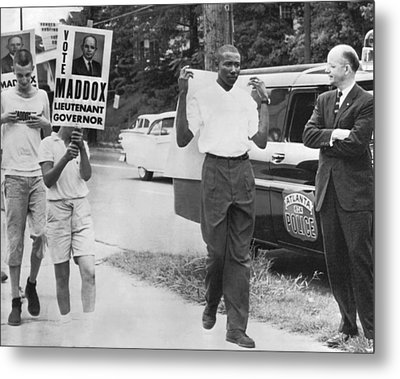Lester Maddox Picketed Metal Print by Underwood Archives