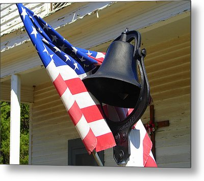 Let Freedom Ring Metal Print by Lew Davis