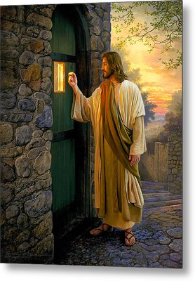 Let Him In Metal Print by Greg Olsen